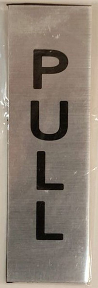 PULL AND PUSH SIGN - BRUSHED