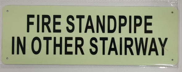 SIGNS FIRE STANDPIPE IN OTHER STAIRWAY SIGN