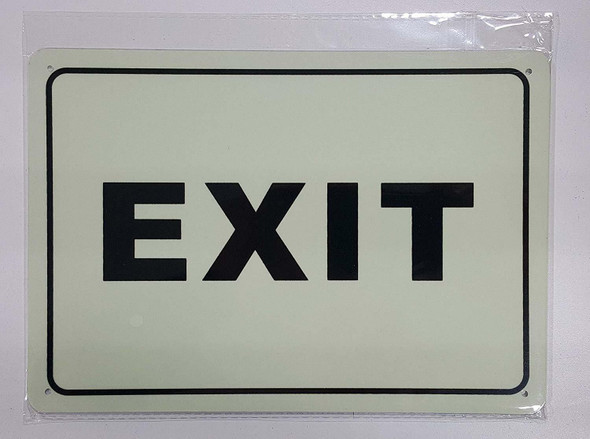 EXIT SIGN - PHOTOLUMINESCENT GLOW IN
