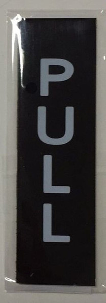 PULL AND PUSH SIGN - BLACK