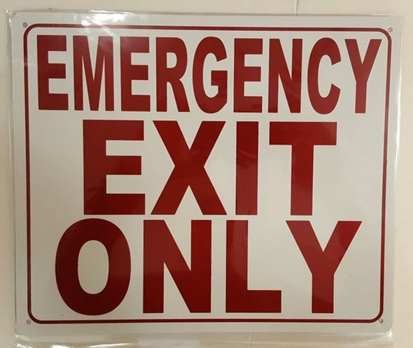 SIGNS EMERGENCY EXIT ONLY SIGN (ALUMINUM SIGNS