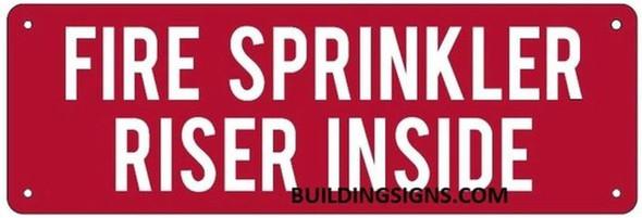 FIRE SPRINKLER RISER INSIDE SIGN (ALUMINUM