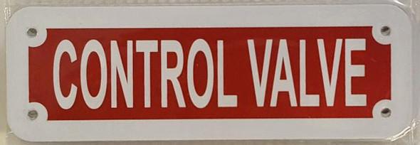 SIGNS CONTROL VALVE SIGN- REFLECTIVE !!! (ALUMINUM