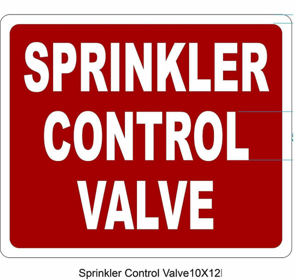 SPRINKLER CONTROL VALVE SIGN- REFLECTIVE !!!