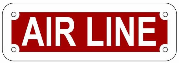 AIR LINE SIGN- REFLECTIVE !!! (ALUMINUM