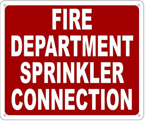 FIRE DEPARTMENT SPRINKLER CONNECTION SIGN- REFLECTIVE