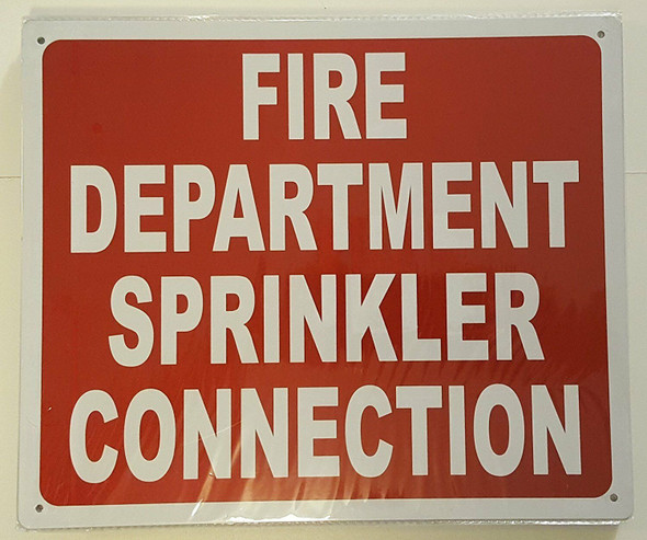 SIGNS FIRE DEPARTMENT SPRINKLER CONNECTION SIGN- REFLECTIVE