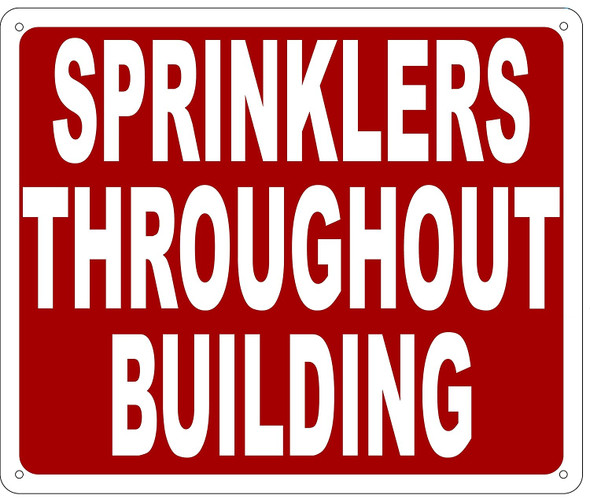 SPRINKLERS THROUGHOUT BUILDING SIGN- REFLECTIVE !!!