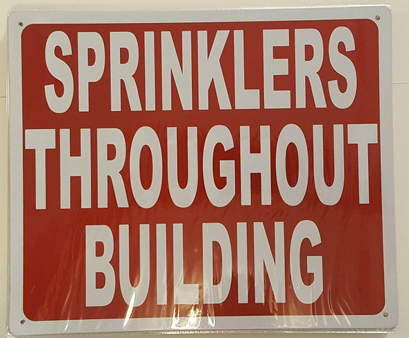 SIGNS SPRINKLERS THROUGHOUT BUILDING SIGN- REFLECTIVE !!!