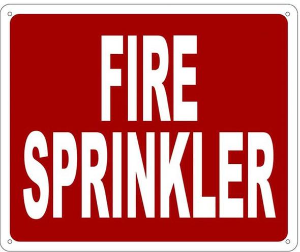 FIRE SPRINKLER SIGN- REFLECTIVE !!! (RED,