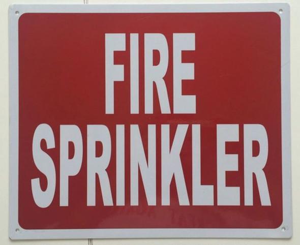 SIGNS FIRE SPRINKLER SIGN- REFLECTIVE !!! (RED,