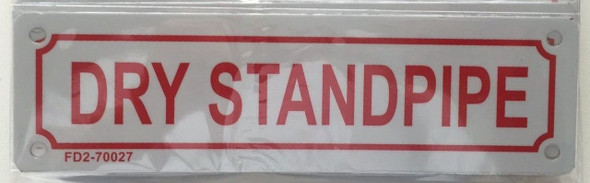 DRY STANDPIPE SIGN (WHITE, ALUMINUM SIGNS