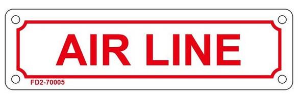 AIR LINE SIGN (WHITE, ALUMINUM SIGN