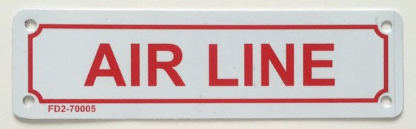 SIGNS AIR LINE SIGN (WHITE, ALUMINUM SIGN
