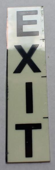 PHOTOLUMINESCENT DOOR NUMBER EXIT SIGN (GLOW