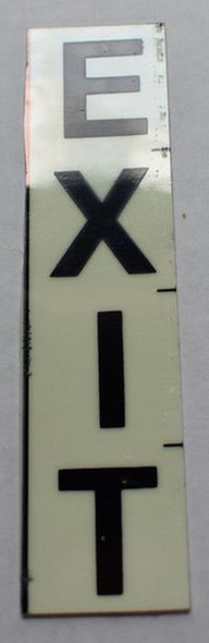 SIGNS PHOTOLUMINESCENT DOOR NUMBER EXIT SIGN (GLOW