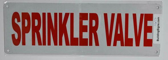 SPRINKLER VALVE SIGN (ALUMINUM SIGNS 4X12)
