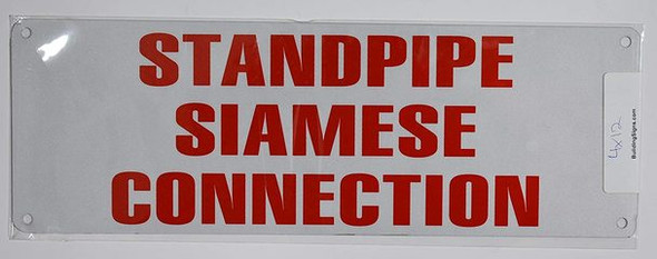 SIGNS STANDPIPE SIAMESE CONNECTION SIGN (ALUMINUM SIGNS