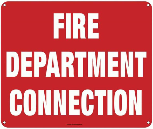 FIRE DEPARTMENT CONNECTION SIGN (ALUMINUM SIGNS