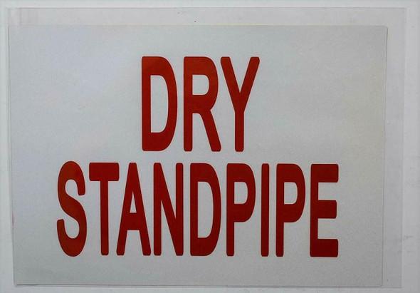 DRY STANDPIPE SIGN (WHITE) (Sticker 7X10)-(ref062020)