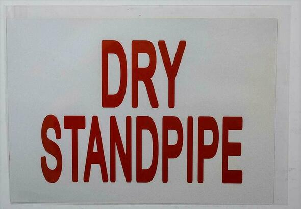 SIGNS DRY STANDPIPE SIGN (WHITE) (Sticker 7X10)-(ref062020)