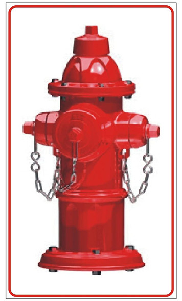 FIRE HYDRANT SIGN- WHITE BACKGROUND (ALUMINUM