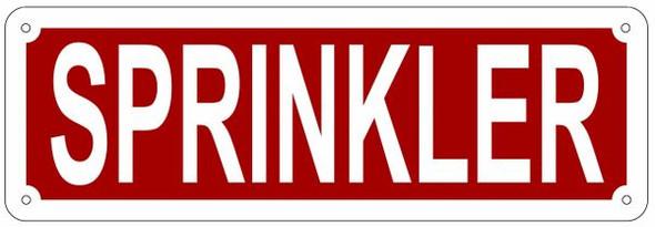 SPRINKLER SIGN- REFLECTIVE !!! (ALUMINUM SIGNS