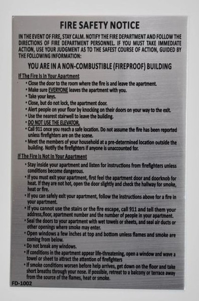 SIGNS Door Fire Safety Notice Sign- Fire