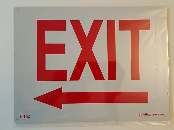 SIGNS Exit Left Sign (Aluminum signs