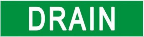 DRAIN SIGN (STICKER 2X8) GREEN-(ref062020)
