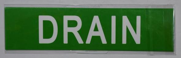 SIGNS DRAIN SIGN (STICKER 2X8) GREEN-(ref062020)