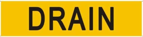 DRAIN SIGN (STICKER 2X8) (Yellow)-(ref062020)