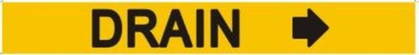 DRAIN SIGN RIGHT ARROW (STICKER 1X8)
