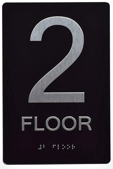 SIGNS 2ND FLOOR SIGN 6X9 ADA -Tactile
