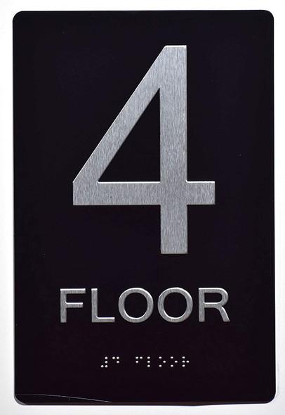 4th FLOOR SIGN 6X9 ADA -Tactile