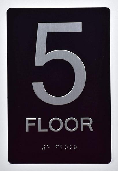 5th FLOOR SIGN 6X9 ADA -Tactile