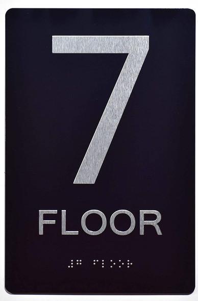 SIGNS 7th FLOOR SIGN 6X9 ADA -Tactile