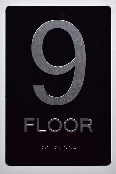 9th FLOOR SIGN 6X9 ADA -Tactile