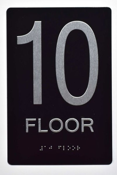 10th FLOOR SIGN 6X9 ADA -Tactile
