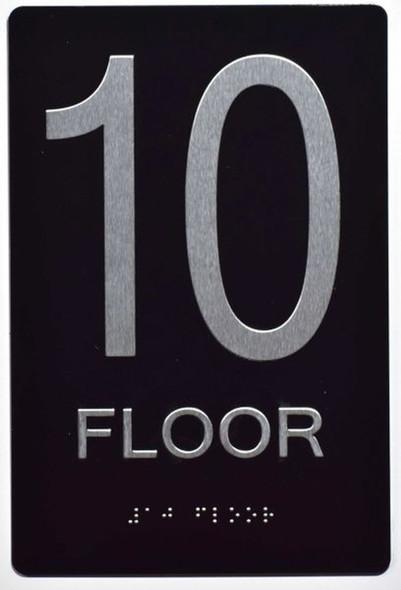 SIGNS 10th FLOOR SIGN 6X9 ADA -Tactile