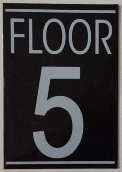 FLOOR NUMBER FIVE (5) SIGN -
