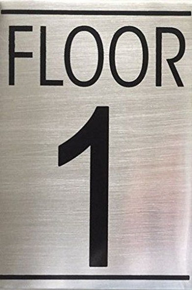 SIGNS FLOOR NUMBER ONE (1) SIGN -