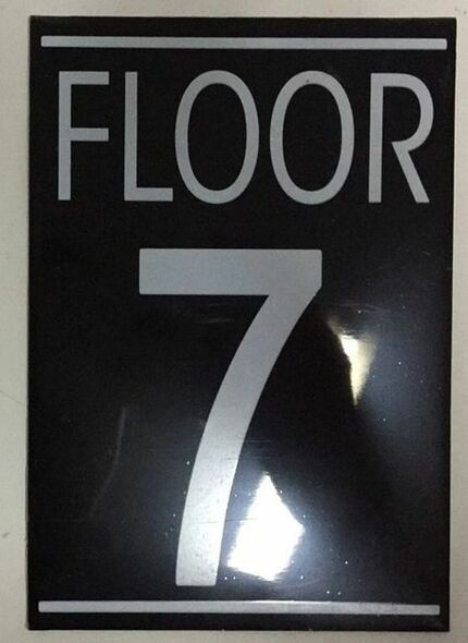 SIGNS FLOOR NUMBER SEVEN (7) SIGN -