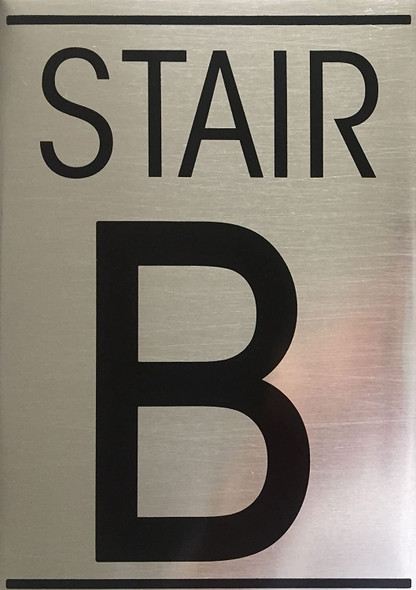SIGNS FLOOR NUMBER SIGN - STAIR B