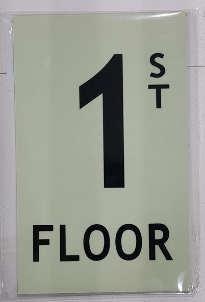 SIGNS FLOOR NUMBER SIGN - 1ST FLOOR