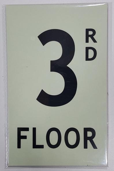 SIGNS FLOOR NUMBER SIGN - 3RD FLOOR