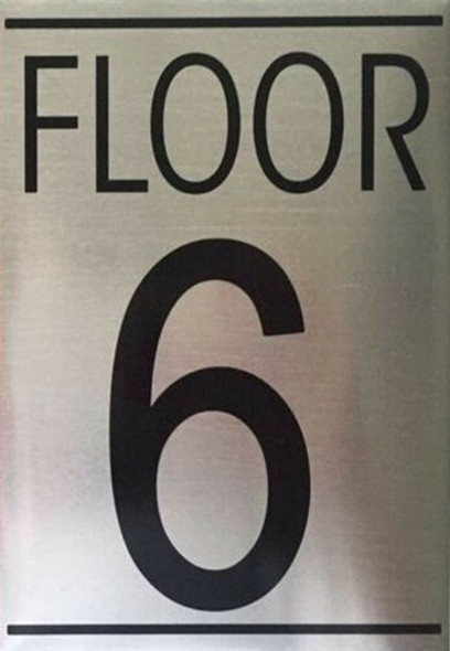 SIGNS FLOOR NUMBER SIX (6) SIGN -