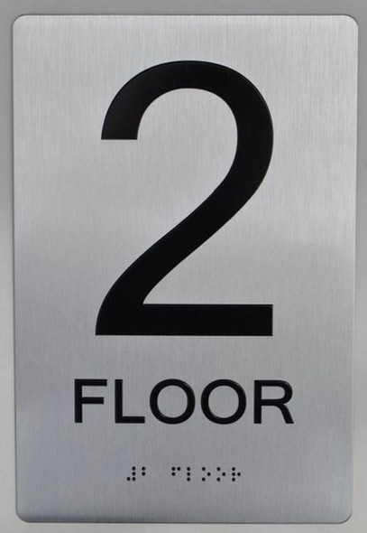 2ND FLOOR ADA Sign -Tactile Signs