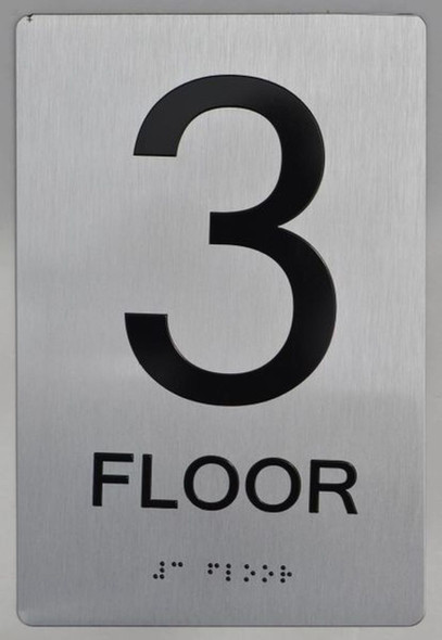 SIGNS 3rd FLOOR ADA Sign -Tactile Signs
