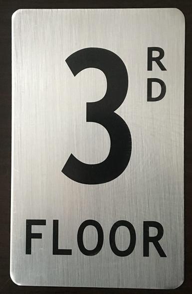 FLOOR NUMBER SIGN - 3RD FLOOR